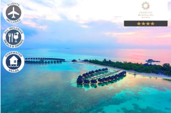 MALDIVES: 5 Nights All Inclusive at Olhuveli Beach & Spa Resort Including Flights For Two