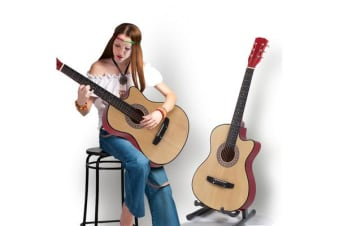 "38""Acoustic Guitar for Wooden Nature wood"