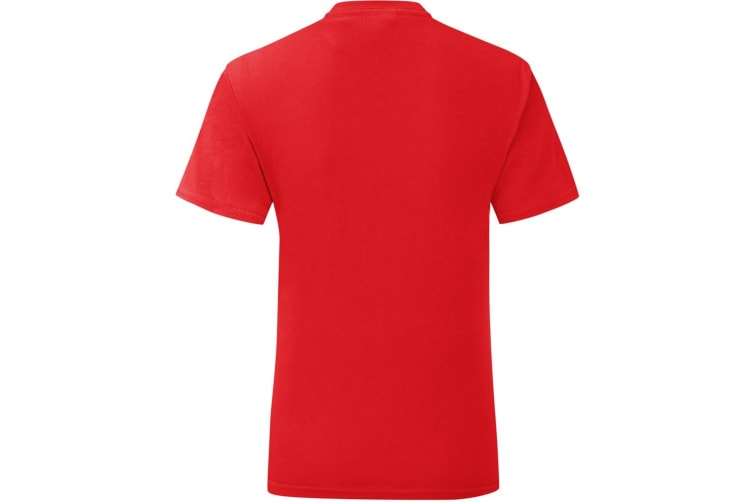 Fruit Of The Loom Mens Iconic T-Shirt (Red) (XL)