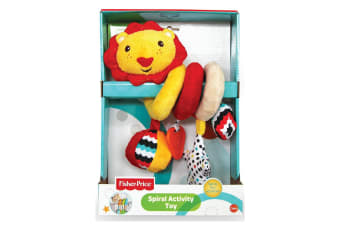 Fisher Price Lion Spiral Activity Educational/Interactive Squeaker Toy Baby 0m+