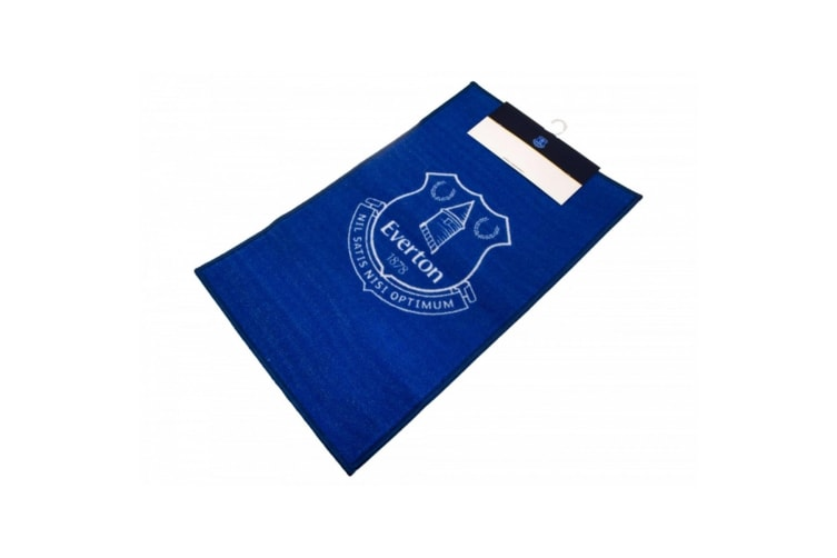 Everton FC Official Football Crest Rug (Blue/White) (One Size)