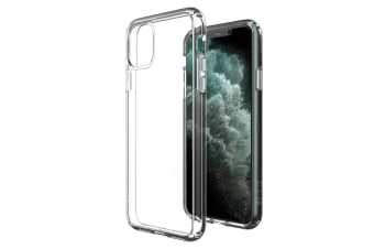 ZUSLAB iPhone 11 Pro Max Case Tough Fusion Shock Absorption Rubber Bumper Pro Maxtective Transparent Hard Back Clear Cover for Apple - Clear