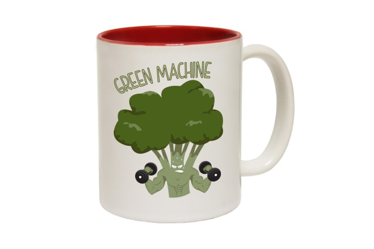 123T Funny Mugs - Green Machine - Red Coffee Cup