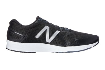 New Balance Men's Flash v2 Running Shoe (Black/White/Silver, Size 7.5)
