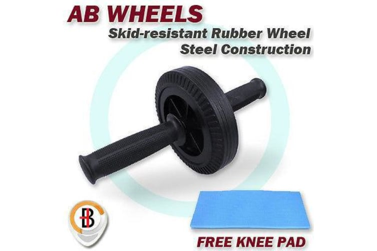 AB Abdominal Waist Workout Fitness Roller with Knee Pad