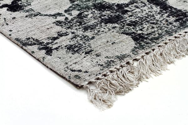 Stanton Viscose Flaweave Rug Silver Green 280X190cm