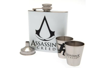 Assassins Creed Hip Flask Set (White)