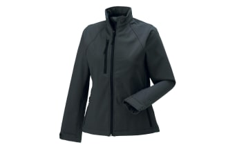 Jerzees Colours Ladies Water Resistant & Windproof Soft Shell Jacket (Titanium) (3XL)
