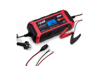 XCELL Smart Car Battery Charger 9 Step 12V 8A Digital Automatic Maintainer Boat