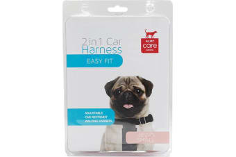 Car & Walking Dog Harness - Small - Up to 10kg - 2 in 1 Harness (Allpet)