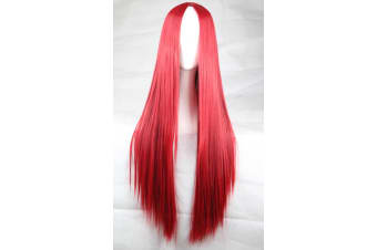 New 75cm Straight Sleek Long Synthetic Cosplay Costume Wigs Party Womens Gift - Red