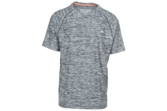 Trespass Mens Gaffney Active T-Shirt (Carbon Marl) (XXL)