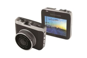 Promate DASHCAM-2 Car Dash Camera with 1080P  Recording. 120deg field of view w/ minimal fisheye