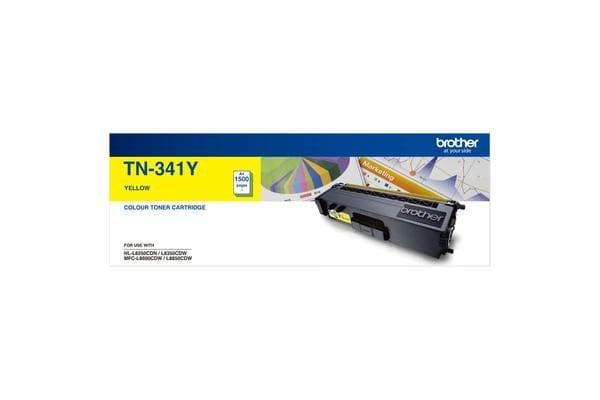 Brother TN-341YYellow Toner 1500 Page, Suit HL-L8350CDW