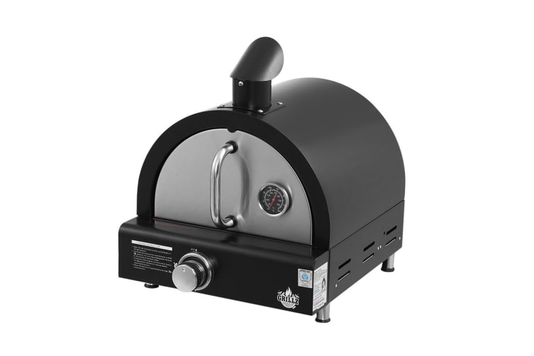 Grillz Portable Pizza Oven Camping LPG Gas Grill Cook Stove Stainless Steel