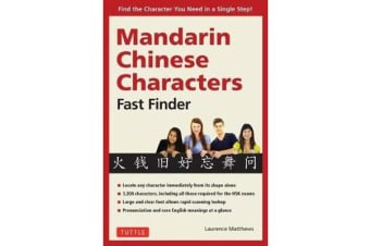 Mandarin Chinese Characters Fast Finder - Find the Character you Need in a Single Step!