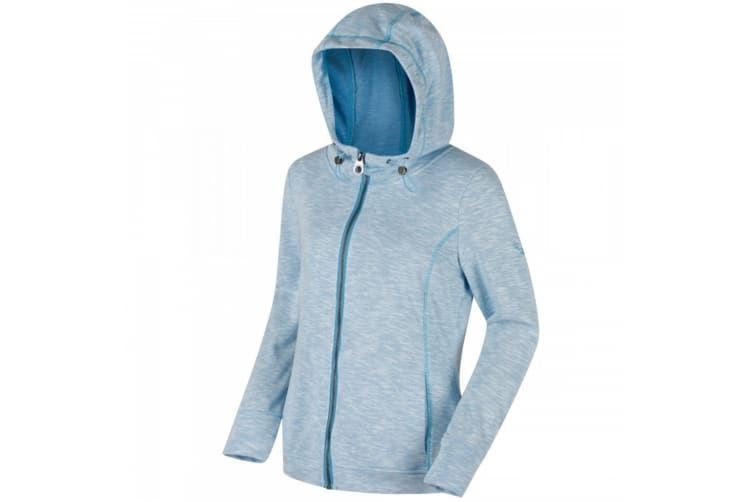 Regatta Womens/Ladies Ramosa Full Zip Hooded Fleece (Hydrangea) (14 UK)