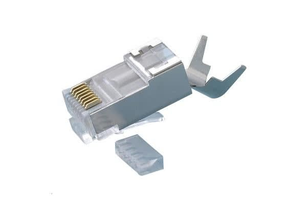 PlatinumTools Cat6A Shielded Plug. 10G plug for Cat6A shielded cable. 10pc clamshell. External