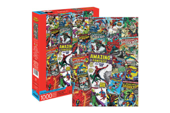 1000pc Aquarius Marvel Spiderman 71cm Jigsaw Puzzle Pieces Kids Educational 14y+