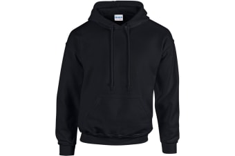 Gildan Heavy Blend Adult Unisex Hooded Sweatshirt / Hoodie (Black)