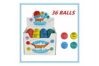 36 X SUPER SHOT BOUNCING HAND BALLS MIXED COLOR BIRTHDAY PARTY KIDS GIFT FDDD