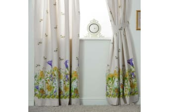 Belledorm Bluebell Meadow Lined Curtains (Ivory) (168 x 138cm)