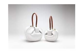 Fashion Women Dumpling Style Leather Bag Retro Tote Handbag Top Handle Bag White L