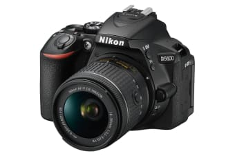 Nikon D5600 DSLR Camera 24.2MP with 18-55mm f/3.5-5.6 AFP DX NIKKOR Zoom Lens Kit