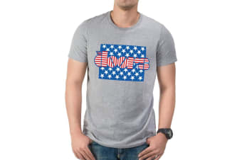 The Doors Adults Unisex Adults Stars And Stripes T-Shirt (Grey)