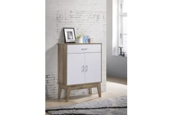 Shoe Cabinet with Drawer Storage Organiser Scandinavian - Oak