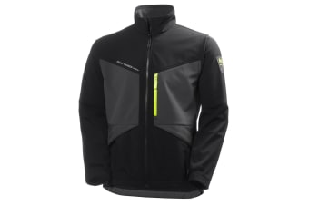 Helly Hansen Mens Aker Softshell Jacket (Jet Black/Dark Grey)