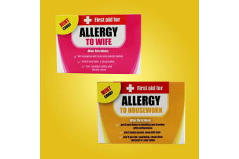 First Aid Novelty Allergy Mints For Him - Allergy To Wife