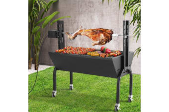 Electric Rotisserie BBQ Charcoal Smoker Grill Spit Roaster Outdoor