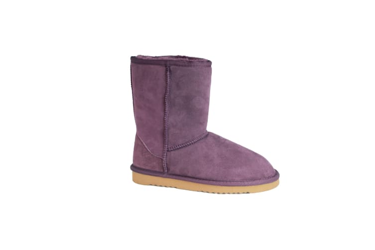 Eastern Counties Leather Womens/Ladies Jodie Sheepskin Short Plain Boots (Purple) (4 UK)