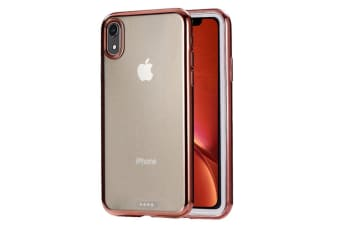 Ultra-thin Electroplating TPU Protective Case For iPhone XR Rose Gold
