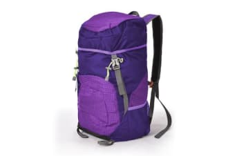 35L Hiking Rucksack Outdoor Backpack Bag Purple