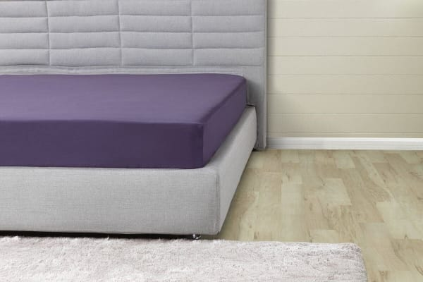 Ovela 1000TC Cotton Rich Luxury Fitted Sheet (Double, Lilac)