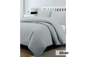 Regal Quilted Quilt Cover Set Silver