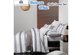 Bronson White Quilt Cover Set by Logan & Mason