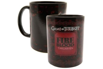 Game Of Thrones Official Targaryen Heat Changing Mug (Black/Red) (One Size)