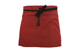 Warrior Pocket Waist Workwear Apron (Red)