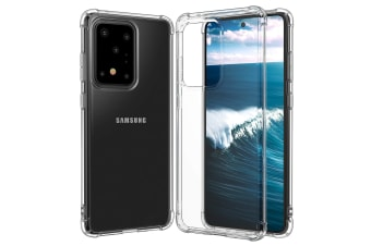 ZUSLAB Galaxy S20 Ultra 5G Tough TPU Clear Case Shock Absorption Rubber Bumper Protective Cover for Samsung