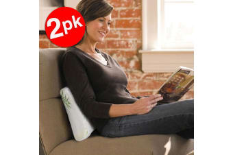 2x UniWide Bamboo Back Support Pillow