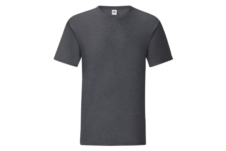 Fruit Of The Loom Mens Iconic T-Shirt (Dark Heather) (XXL)
