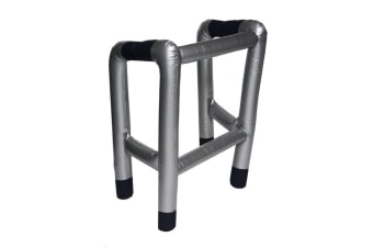 Henbrandt Inflatable Walking Frame Costume Piece (Silver/Black) (One Size)
