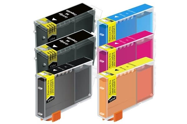 BCI-3 Black / Bci-6 Colours Compatible Inkjet Cartridge Set