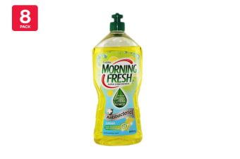 Morning Fresh 900ml Dishwashing Liquid Antibacterial Lemon Super Concentrate (8 Pack)