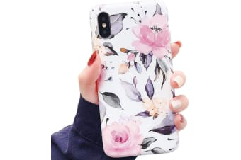 Marble Pattern Soft TPU Case Elegant Stylish Shockproof Silicone Cover for iPhone XS Max-White
