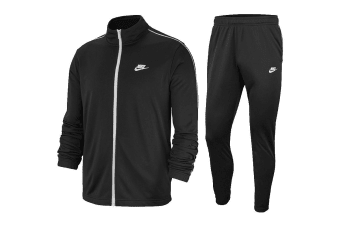 Nike Men's Sportswear Poly Basic Tracksuits (Black)