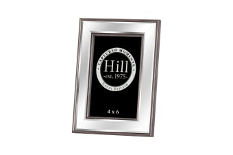 Hill Interiors Champagne Edged Bevelled Mirror Photo Frame (Silver/Gold)